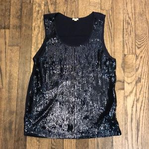 J. Crew navy sequence tank top size small
